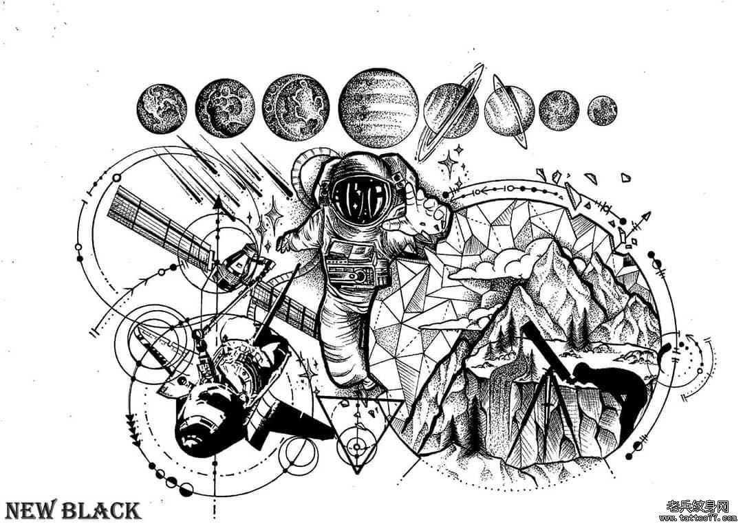 太空博物馆简笔画