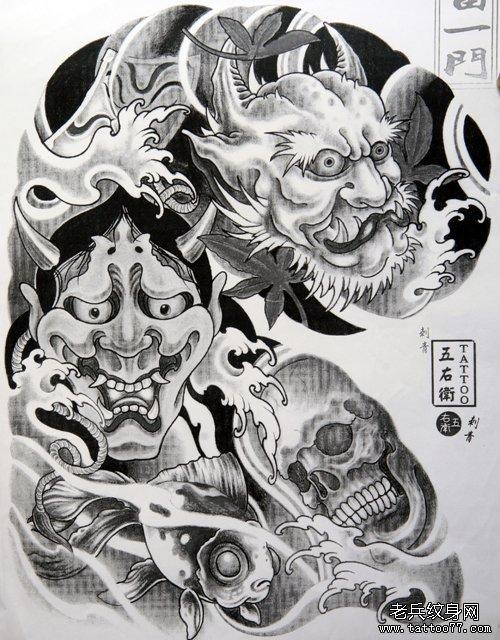超酷的半胛般若纹身手稿为北京纹身爱好者提供