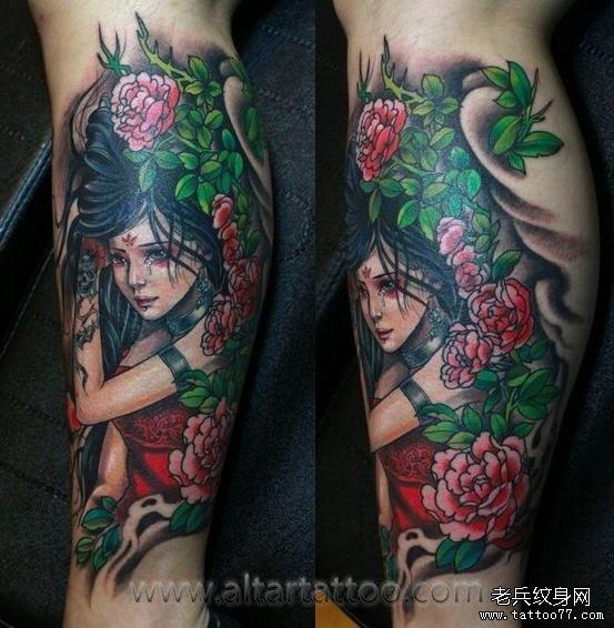 画美女纹身图案
