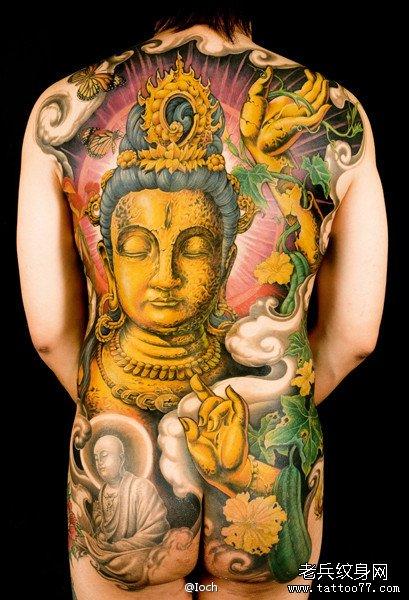 纹身 武汉/查看更多满背观音纹身图案请登陆武汉专业纹身店老兵刺青网http://...