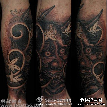 美女腿部可爱的漂亮的象神纹身