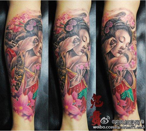 典美女纹身图案
