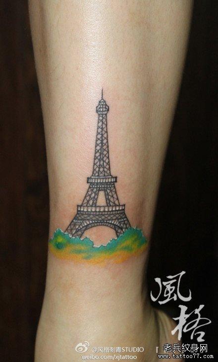黎埃菲尔铁塔纹身图案图片