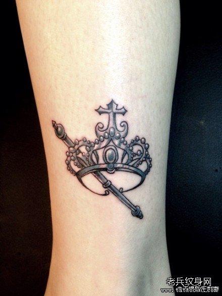 纹身 武汉/查看更多皇冠权杖纹身图案请登陆武汉专业纹身店老兵刺青网http://...