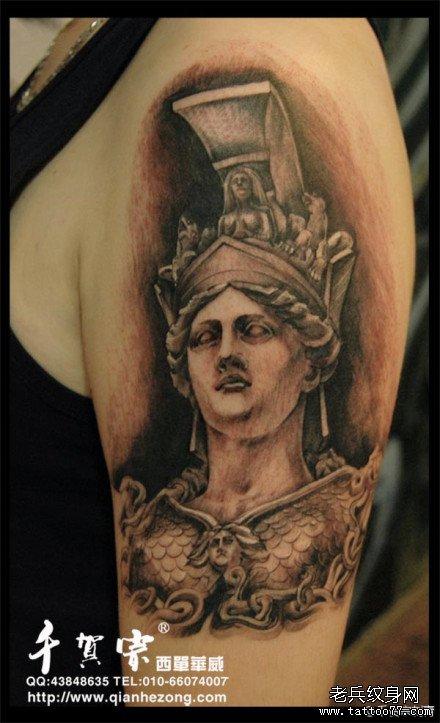 欧美包臂纹身图案13; 齐天大圣的霸气纹身; 雅典娜萨沙; 图片
