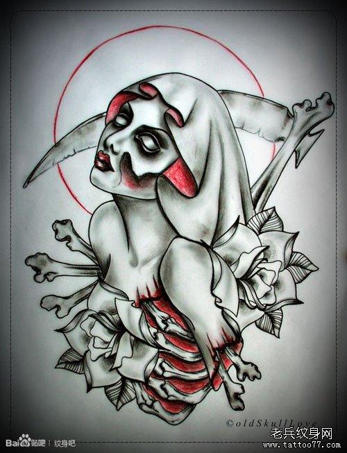尸美女纹身手稿