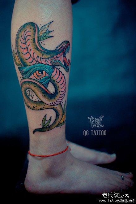 纹身主页 纹身图案大全 蛇纹身图案大全   发表