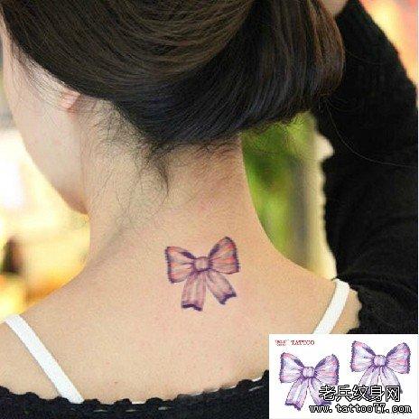 蝴蝶结纹身贴 彩色刺青 男女 纹身 贴纸 原宿风格