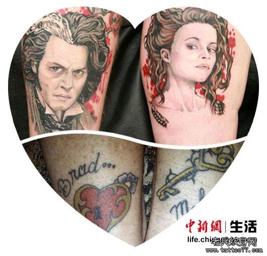 情侣纹身图案一直是推陈出新的