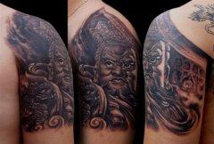 超帅的增长天王纹身图案