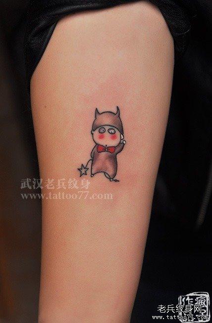 很可爱很卡通的蜡笔小新纹身图案作品图片