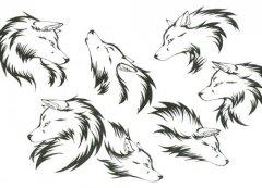 2013-05-13 14:24:58 一款霸气经典的狼头纹身图案 2013-05-13 14:18图片