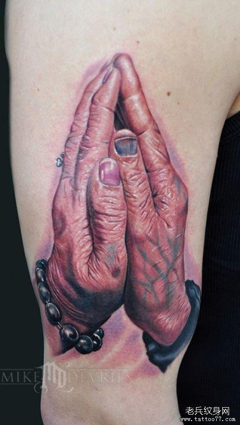 祈祷之手纹身的意义(图文)