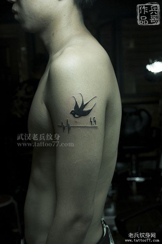 燕子纹身图案的象征意义(图文)