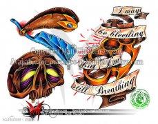 2013-07-08 11:44:13 一组漂亮潮流的燕子玫瑰花爱心皇冠纹身手稿