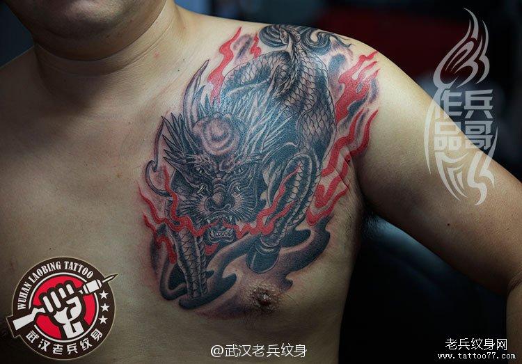 纹身图案大全 / 麒麟貔貅纹身