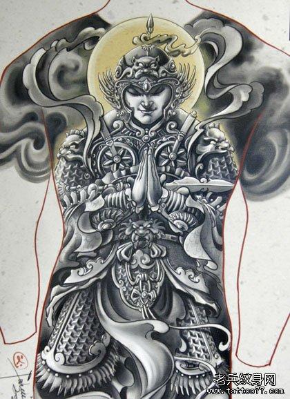 佛的护法神韦陀纹身图案及寓意