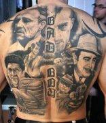 一副后背人物肖像纹身图片图片