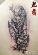 撒旦羊头手臂纹身_纹身图案