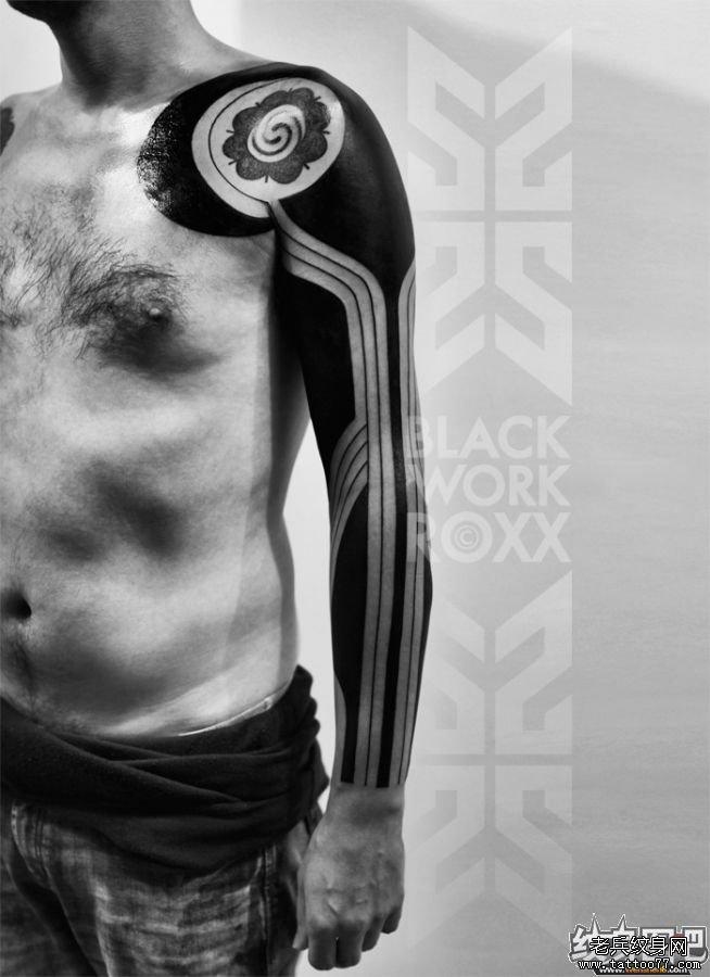 纹身 武汉/男人粗狂图腾纹身作品图片系列1