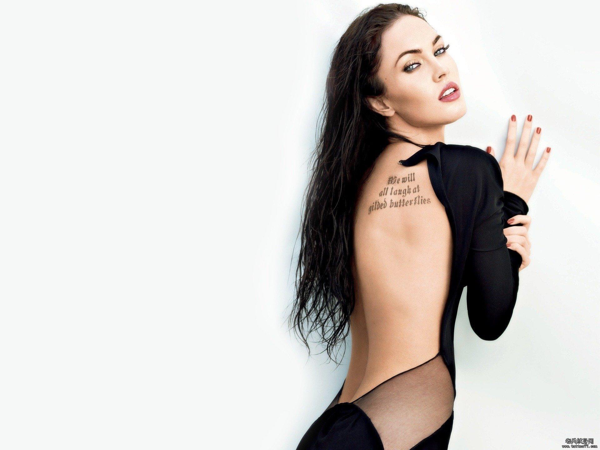 2014年欧美明星美女高清纹身壁纸桌面图片下载