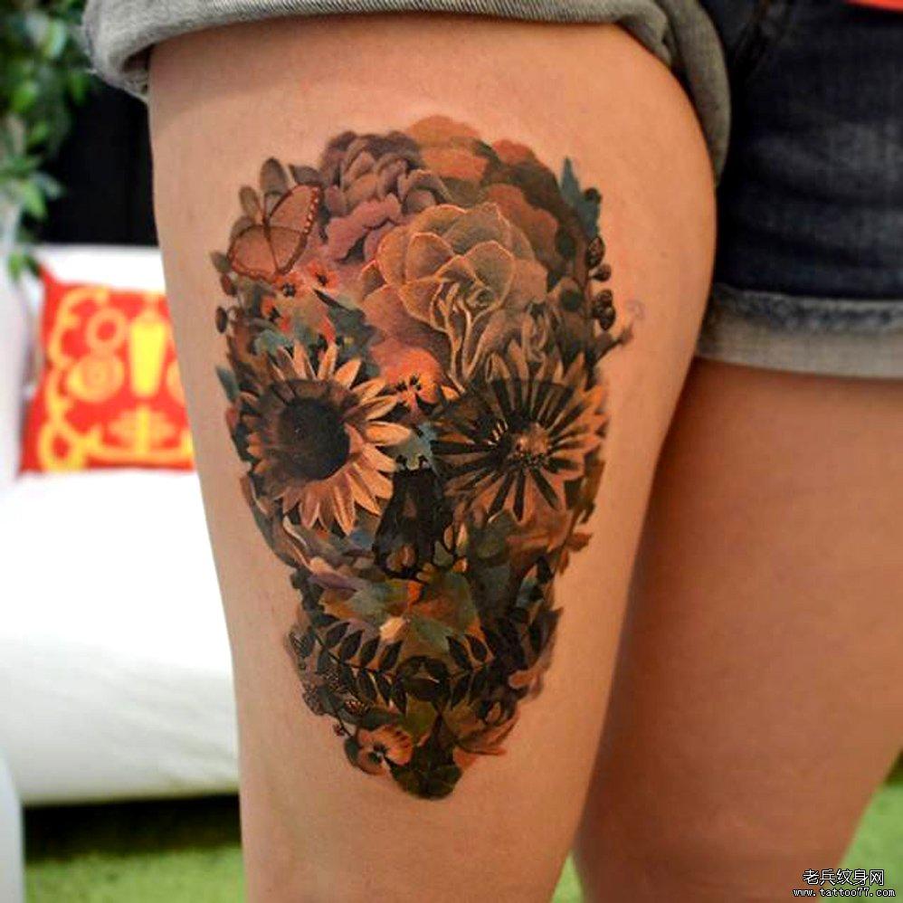 花腿纹身图案tag标签_武汉纹图片