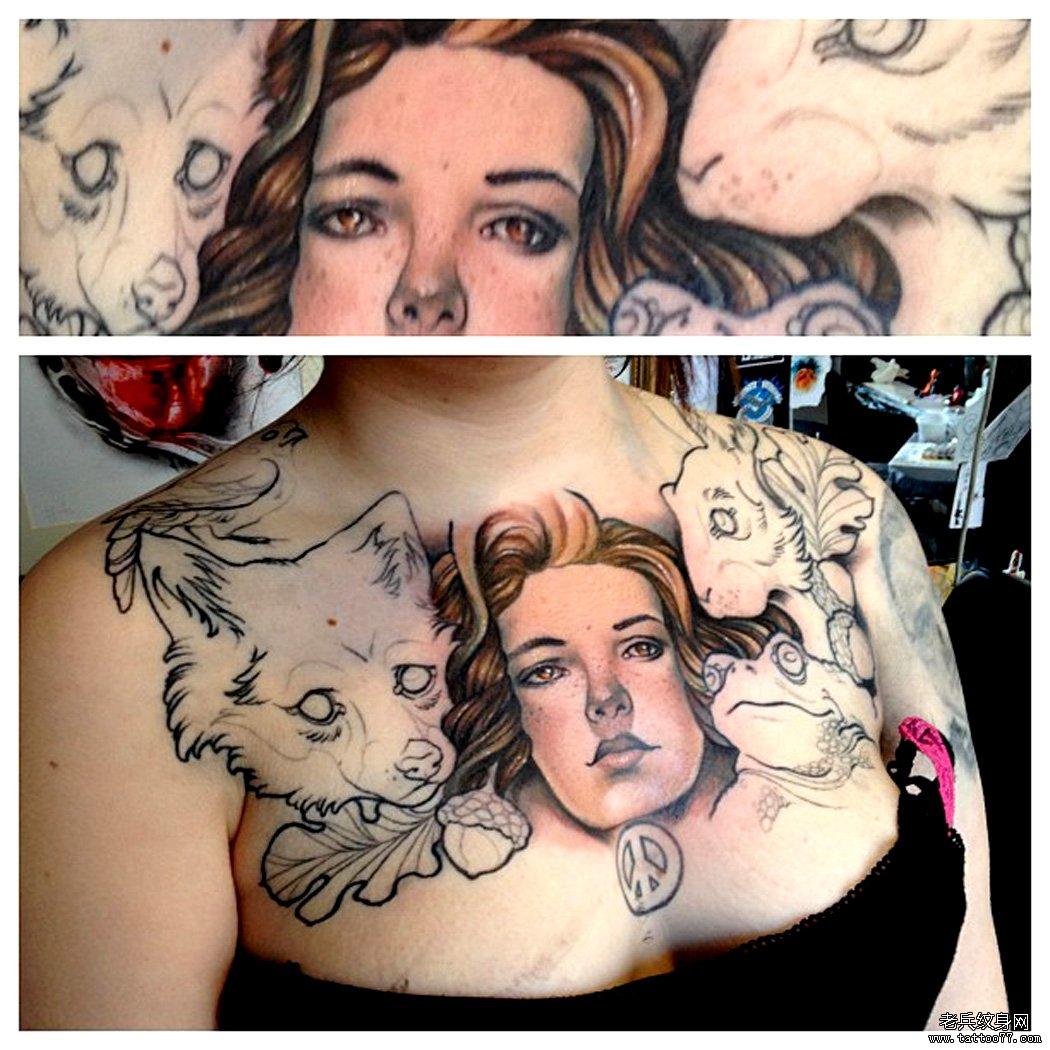 霸女人纹身分享展示