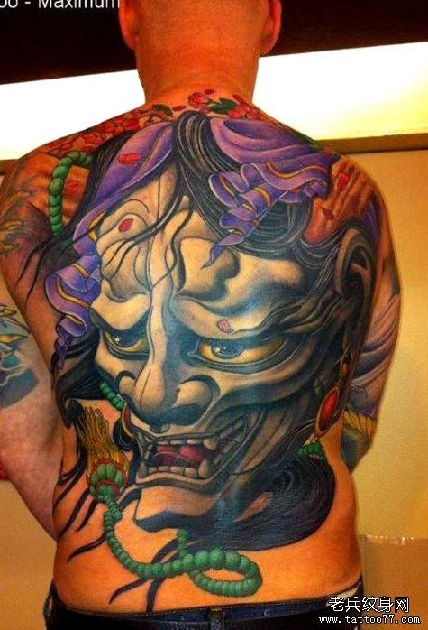 推荐一款经典满背般若纹身图案