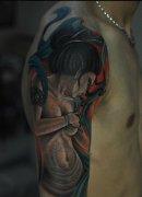 2014-02-19 22:48:21 推荐一款几何形体花纹身图案 2014-02-19 22:43