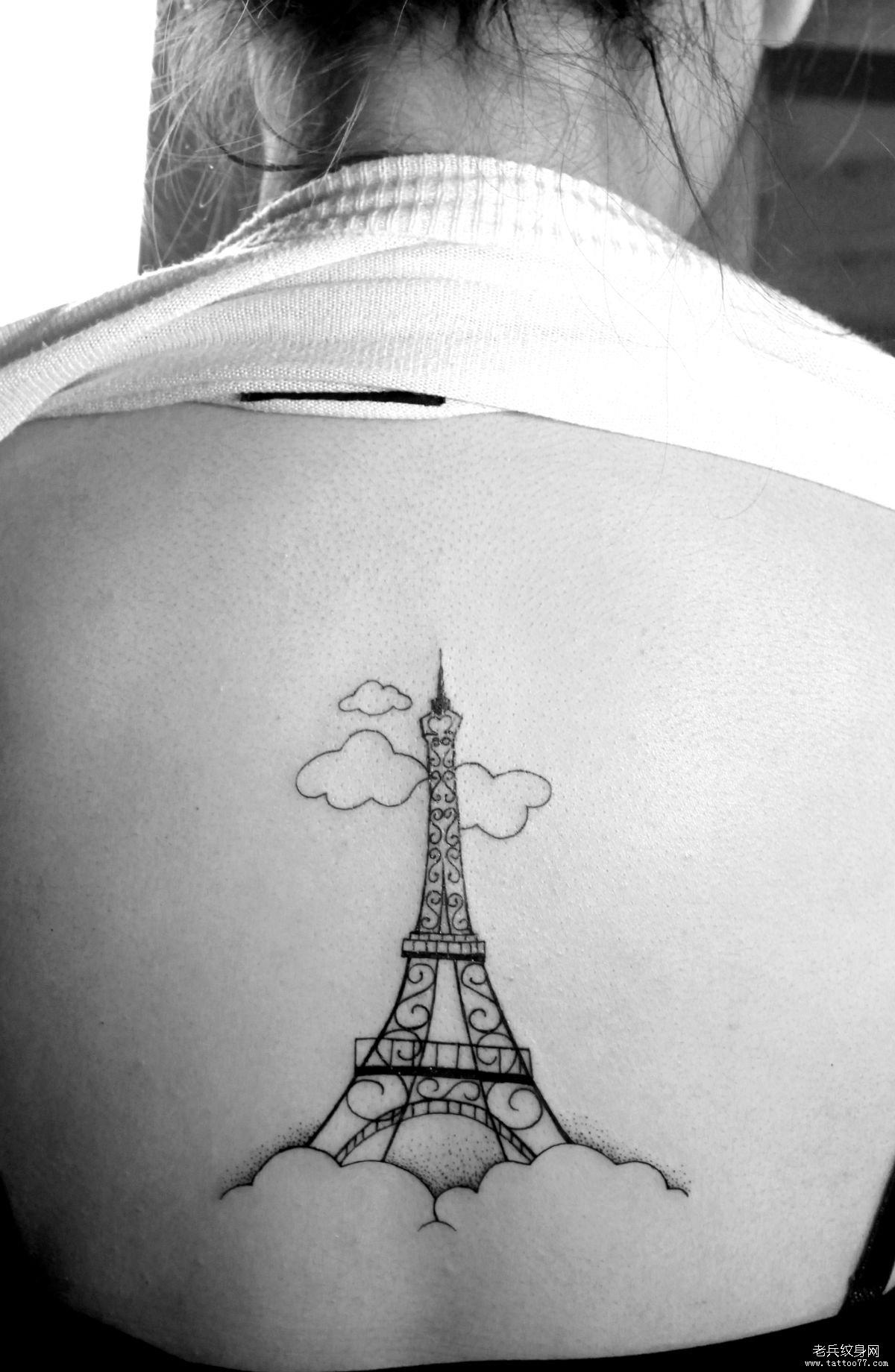 纹身 武汉-; 三a扑克牌背面怎么认; 背部埃菲尔铁塔纹身图案由武汉