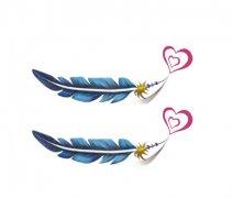 纹身 武汉/简单的爱心羽毛纹身图案有武汉纹身网推荐