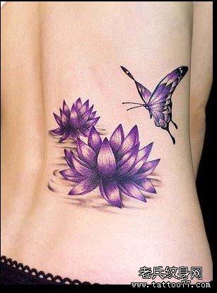 com   标签:莲花纹身图案腰部纹身图案蝴蝶纹身图案彩色纹身图案