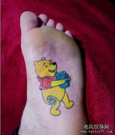 一款卡通维尼熊由武汉最好的纹身网推荐