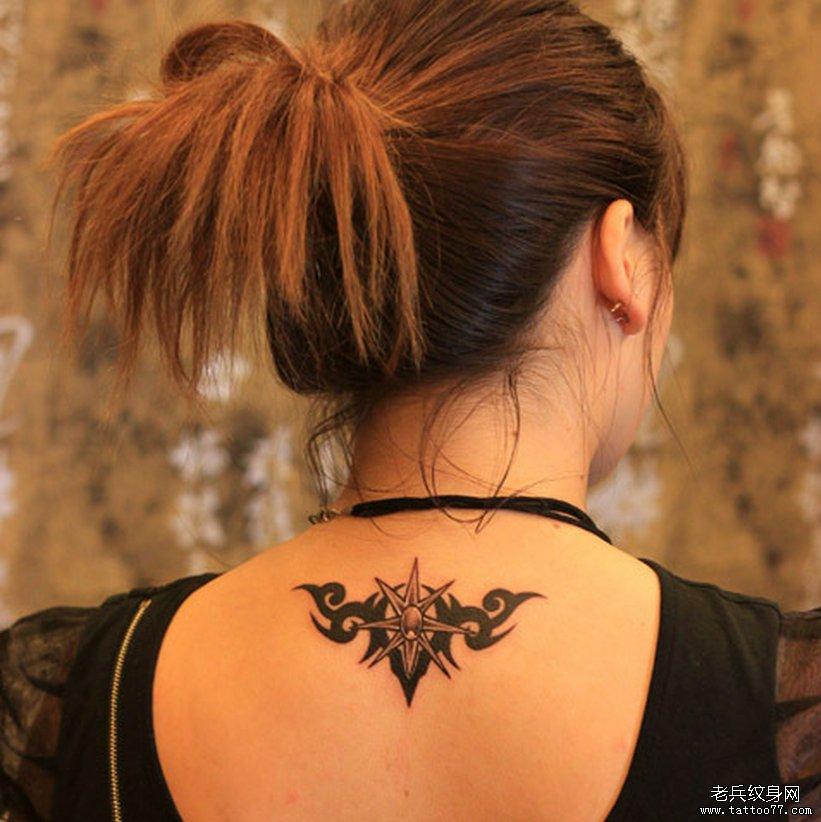 颈部图腾纹身图案由武汉纹身店推荐