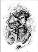 纹身手稿图案由武汉最好的纹身店推荐 2014-03-16 16:57:25 大臂佛