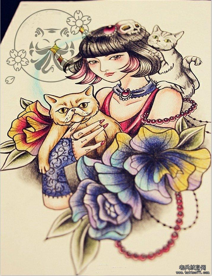 一款欧美风格纹身手稿图案由武汉最好的纹身网推荐