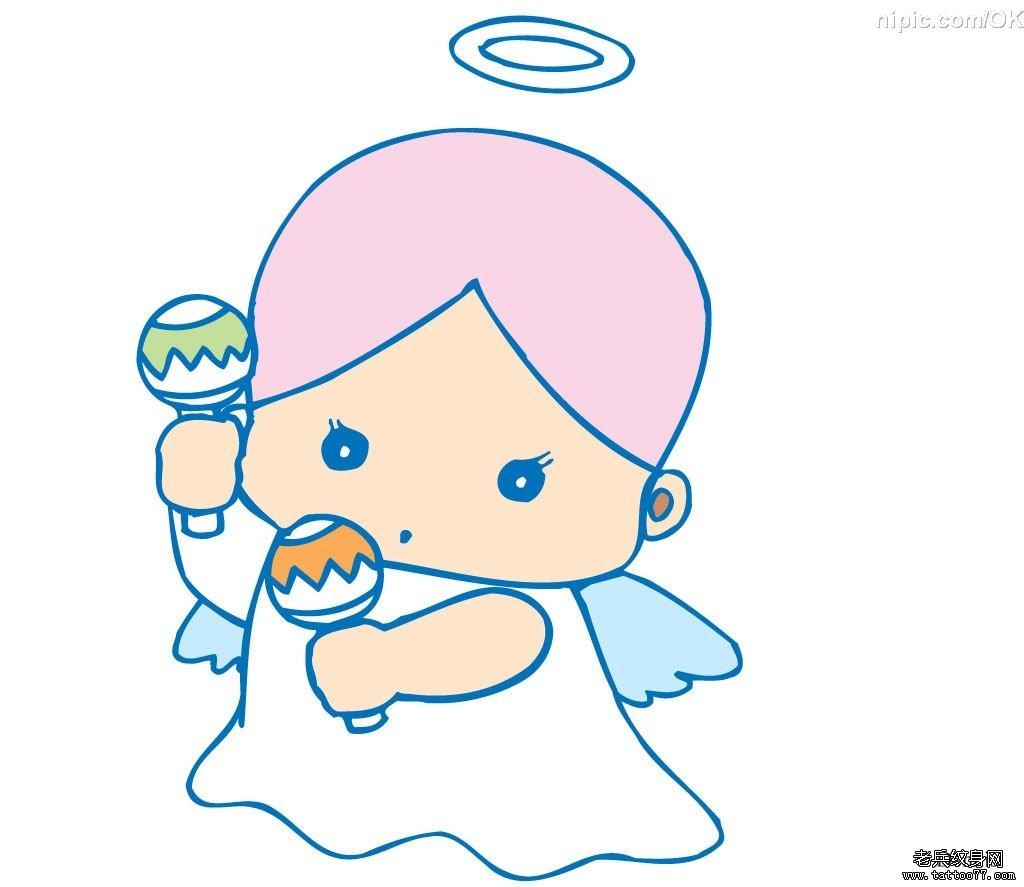 可爱的天使宝宝纹身手稿图案有武汉纹身店推荐
