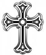 一款十字架文身手稿图案由武汉最好的文身店推荐