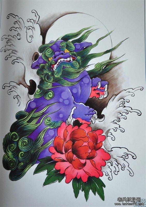 一款彩色纹身手稿团由武汉文身店推荐
