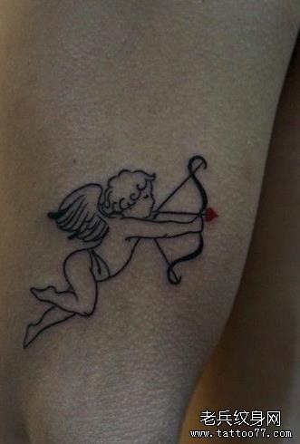 武汉最好的纹身店推荐一款小天使纹身图案
