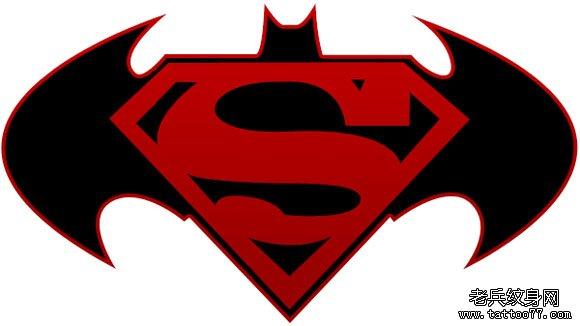 超人标志纹身图案由武汉纹身店推荐