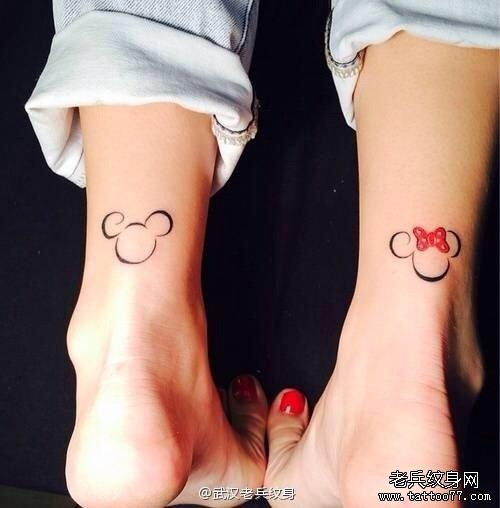 米奇77av_武汉最好的纹身店推荐一款卡通米奇纹身图案