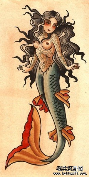 com                   彩色小鹿玫瑰花纹身手稿图案由武汉纹身