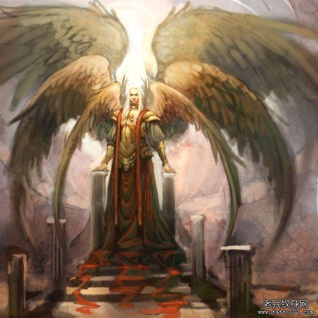 时尚大气的六翼天使纹身第2页图片