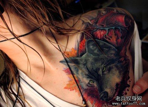 白城苍狼纹身