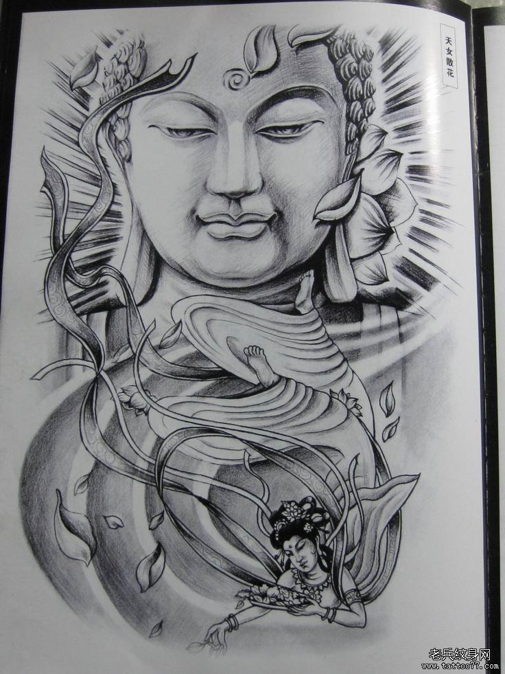 传统的佛纹身图案由武汉最好的刺青店推荐图片