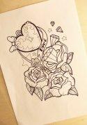 2014-07-06 13:51:51 个性彩色扑克牌纹身图案由武汉最好的纹身店