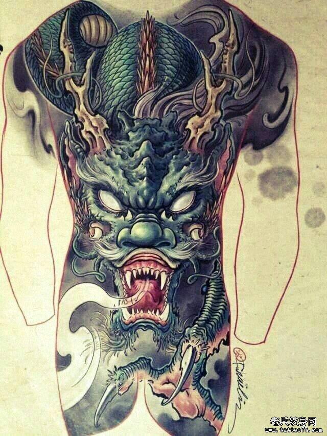 彩色鲤鱼纹身视频欣赏 · 国外疯狂的纹身艺术节视频分享 [ 更多