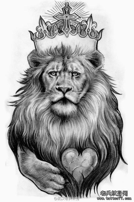 一组个性的狮子纹身图案由武汉最好的纹身店推荐