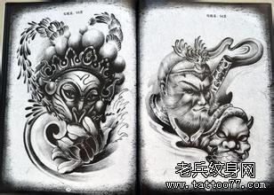 齐天大圣孙悟空纹身手稿图案由武汉纹身推荐图片